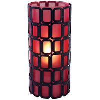 Sterno Products 80334 Ayer 6 inch Red Frost Lamp
