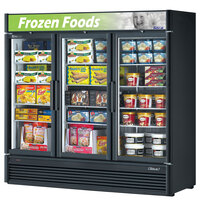 Turbo Air TGF-72SD Black Super Deluxe Three Door Merchandiser Freezer - 71.3 Cu. Ft.