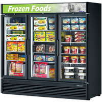 Turbo Air TGF-72SD Black 78 inch Super Deluxe Glass Door Merchandising Freezer