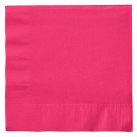 Creative Converting 139197135 Hot Magenta Pink 2-Ply 1/4 Fold Luncheon Napkin   - 50/Pack