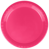 Creative Converting 28177011 7 inch Hot Magenta Pink Plastic Plate - 20/Pack ...  sc 1 st  WebstaurantStore & Pink Plastic Plates | Pink Disposable Plates
