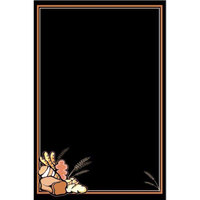 24 inch x 36 inch Black Marker Board with Bread Graphic RMV-2436-BR