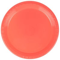 Creative Converting 28314611 7 inch Coral Orange Plastic Plate - 20/Pack