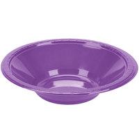 Creative Converting 318920 12 oz. Amethyst Purple Plastic Bowl   - 20/Pack