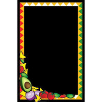 Rainbow Sign Mfg. RMV-2436-MF 24 inch x 36 inch Black Marker Board with Mexican Graphic