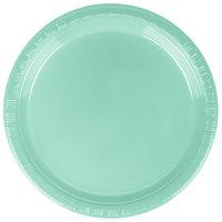 Creative Converting 318877 7 inch Fresh Mint Green Plastic Plate - 20/Pack