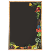 Rainbow Sign Mfg. RMV-2436-FV 24 inch x 36 inch Black Marker Board with Fruit and Vegetable Graphic