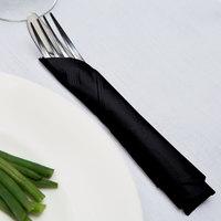 Creative Converting 58134B Black Velvet 3-Ply 1/4 Fold Luncheon Napkin - 50/Pack