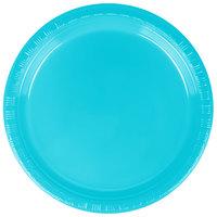 Creative Converting 28103911 7 inch Bermuda Blue Plastic Plate - 20/Pack