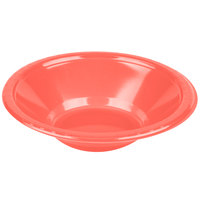 Creative Converting 28314651 12 oz. Coral Orange Plastic Bowl - 20/Pack