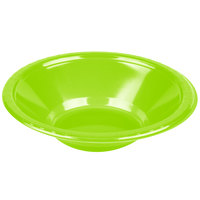Creative Converting 28312351 12 oz. Fresh Lime Green Plastic Bowl - 20/Pack