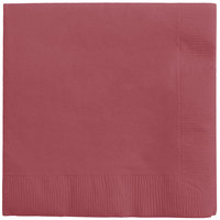 Creative Converting 573122B Burgundy 3-Ply Beverage Napkin   - 50/Pack
