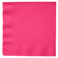 Hot Magenta Pink Paper Dinner Napkin, 3-Ply - Creative Converting 59177B - 25/Pack