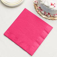 Hot Magenta Pink Paper Dinner Napkin, 3-Ply - Creative Converting 59177B - 25/Pack