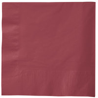 Creative Converting 583122B Burgundy 3-Ply 1/4 Fold Luncheon Napkin   - 50/Pack