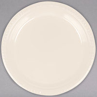 Creative Converting 28161021 9 inch Ivory Plastic Plate - 20/Pack