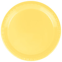 "Creative Converting 28102011 7"" Mimosa Yellow Plastic Plate - 20/Pack"