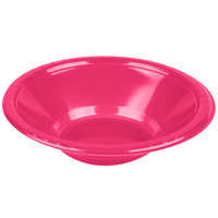 Creative Converting 28177051 12 oz. Hot Magenta Pink Plastic Bowl - 20/Pack