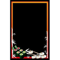 24 inch x 36 inch Black Marker Board with Sushi Graphic RMV-2436-S