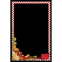 Rainbow Sign Mfg. RMV-2436-HF 24 inch x 36 inch Black Marker Board with Hot Dog Graphic