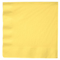 Mimosa Yellow 3-Ply Dinner Napkin, Paper - Creative Converting 59102B - 25/Pack