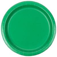 Creative Converting 79112B 7 inch Emerald Green Paper Plate - 24/Pack