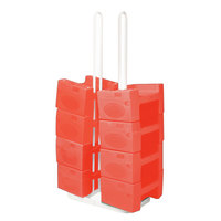 Koala Kare KB120SM-03 W/STRAP Small Booster Buddy Stand with 10 Red Plastic Booster Seats and Straps