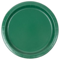 Creative Converting 473124B 9 inch Hunter Green Paper Plate - 24/Pack