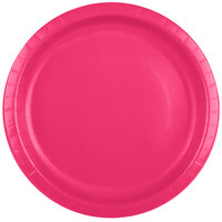 Creative Converting 50177B 10 inch Hot Magenta Pink Paper Plate - 24/Pack