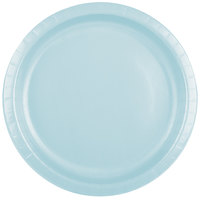 Creative Converting 50157B 10 inch Pastel Blue Paper Plate - 24/Pack