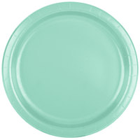 Creative Converting 318888 9 inch Fresh Mint Green Round Paper Plate   - 24/Pack