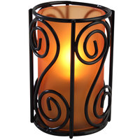 Sterno Products 80496 Swirl 4 inch Orange Frost Lamp