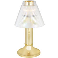 Sterno 80484 10 inch Paige Polished Brass Lamp with Duchess Clear Shade