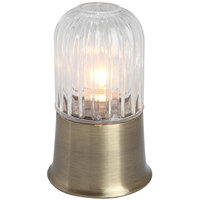 Sterno Products 80408 6 1/2 inch Julep Weathered Brass Base with Amelia Clear Globe