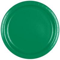 Creative Converting 47112B 9 inch Emerald Green Paper Plate - 24/Pack