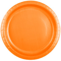 Creative Converting 50191B 10 inch Sunkissed Orange Paper Plate - 24/Pack
