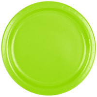 Creative Converting 473123B 9 inch Fresh Lime Green Paper Plate - 24/Pack