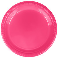 Creative Converting 28177021 9 inch Hot Magenta Pink Plastic Plate - 20/Pack