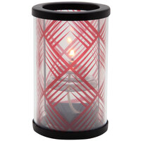 Sterno Products 80444 Muse 5 inch Needlepoint Red Lamp