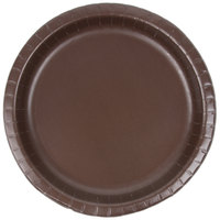 Creative Converting 503038B 10 inch Chocolate Brown Paper Plate - 24/Pack