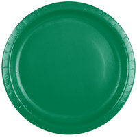 Creative Converting 50112B 10 inch Emerald Green Paper Plate - 24/Pack
