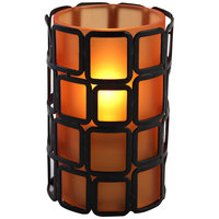Sterno Products 80430 Manhattan 4 inch Orange Frost Lamp