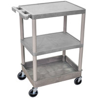 Luxor STC221-G Gray 3 Shelf Utility Cart