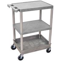 Luxor STC221-G Gray 3 Shelf Utility Cart