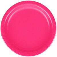 Creative Converting 79177B 7 inch Hot Magenta Pink Paper Plate - 24/Pack