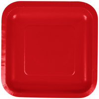 Creative Converting 453548 7 inch Classic Red Square Paper Plate - 18/Pack