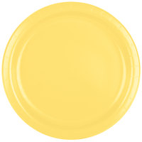 Creative Converting 47102B 9 inch Mimosa Yellow Paper Plate - 24/Pack