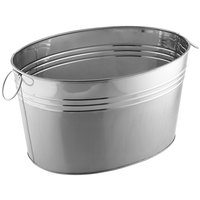 American Metalcraft STUB20 20 1/8 inch x 15 inch x 11 1/8 inch Oval Stainless Steel Metal Tub