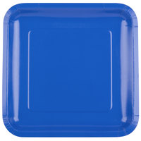 Creative Converting 463147 9 inch Cobalt Blue Square Paper Plate - 18/Pack