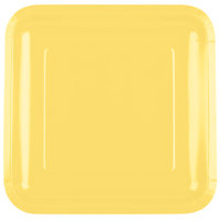 Creative Converting 463266 9 inch Mimosa Yellow Square Paper Plate - 18/Pack